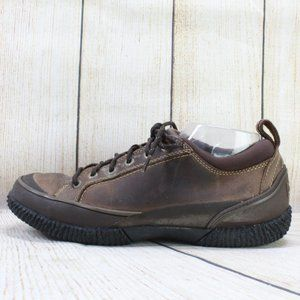LL BEAN Brown Leather Casual Lace Up Shoes Sz 9.5